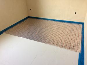 příprava pro pokládku podlahového topení